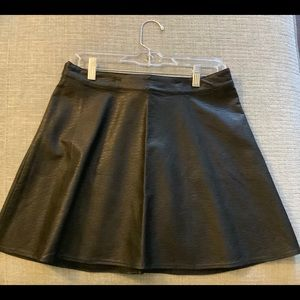NWT Divided by H&M Faux Black Leather Skirt